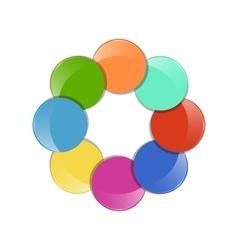color circle vector image