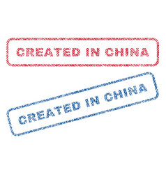 created in china textile stamps vector image vector image