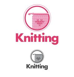 Knitting logo vector image