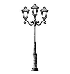 Sketch of street light vector