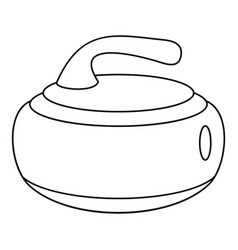 stone for curling icon outline style vector image