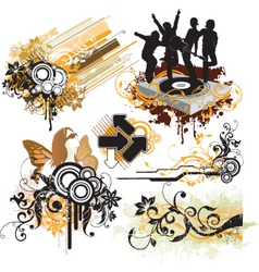 urban funk design elements vector image