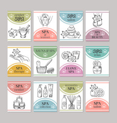 design template of different cards for spa salon vector image vector image