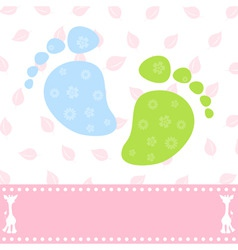 foot of the child vector image vector image