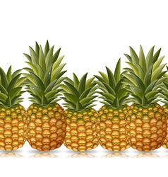 seamless border of pineapple vector image vector image