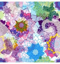 Vivid spring seamless pattern vector image