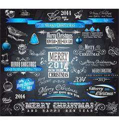 2014 Christmas Vintage typograph design elements vector image