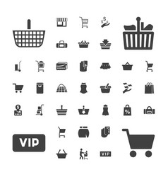 37 shopping icons vector