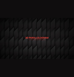 3d parallelogram shapes dark gray abstract vector