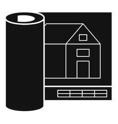 architect house project icon simple style vector image