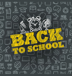 back to school concept lettering banner vector image