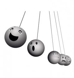 Balls expressing emotions vector