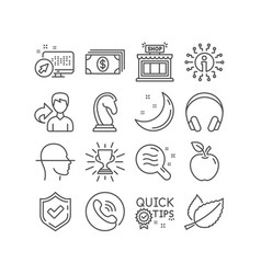 Banking quick tips and mint leaves icons vector