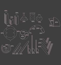 Big set of infographics elements chart report vector