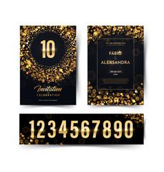 birthday black paper luxury invitation vector image