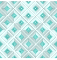 Blue rhombus geometric seamless pattern vector image