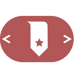 bookmark icon vector image
