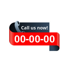 Call us nuw web button - template for phone vector