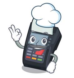chef machine edc isolated in mascot vector image
