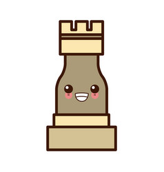 chess game piece kawaii cute cartoon vector image