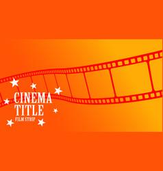cinema tile movie film strip orange background vector image