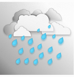 Clouds raining vector