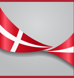 Danish wavy flag vector