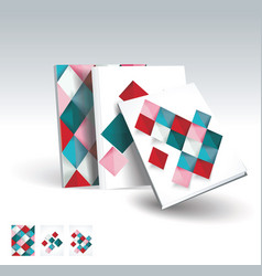 design of business brochure magazine flyer vector image