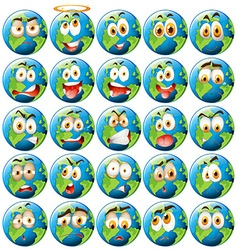 Earth with facial expression vector image