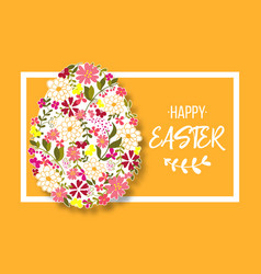 easter egg decorated with different floral vector image