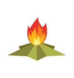 eternal flame memorial 9 may symbol of victory in vector image