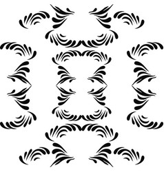 Ethnic seamless black pattern on white background vector