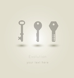 Evolution of keys vector