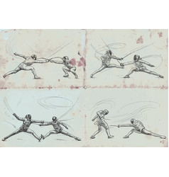 Fencing collection - an hand drawn vector