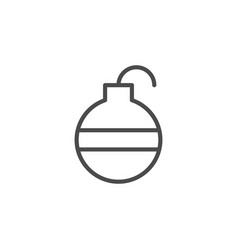 Fire bomb line outline icon vector
