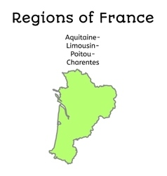 France administrative map of aqlimouspoitcharent vector