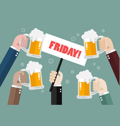 Friday party vector
