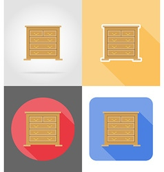furniture flat icons 03 vector image