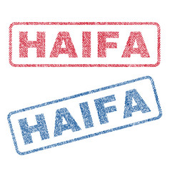 Haifa textile stamps vector