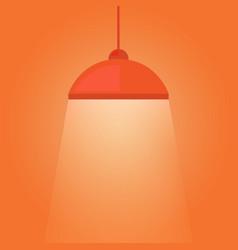 Hanging lamp luminous light vector