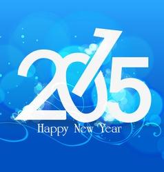 Happy nea year 2015 blue light vector