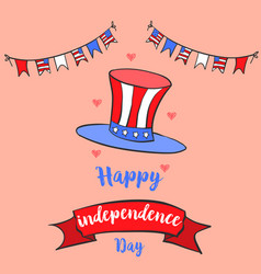 Independence day greeting card collection vector