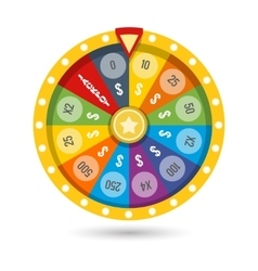 Lucky fortune game wheel vector