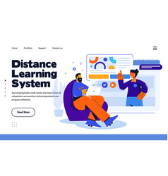 Modern flat design distance learning system vector