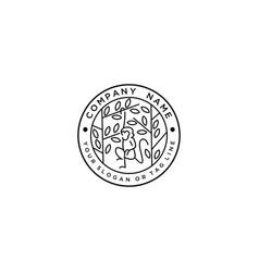 Monkey logo design hanging vector