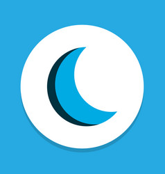 moon icon colored symbol premium quality isolated vector image