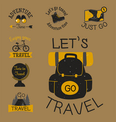 mountain outdoor camping travel hand drawn vector image