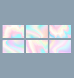 neon holographic background vector image