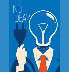 no idea concept business thinking with bulb vector image