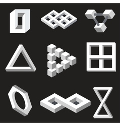 Optical symbols vector image